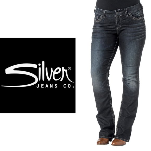Silver Suki Baby Boot Jeans - 32x35